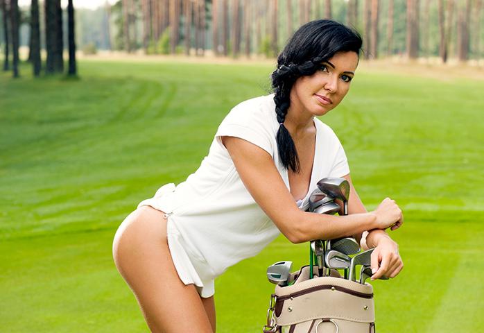 Sexy golfer girl